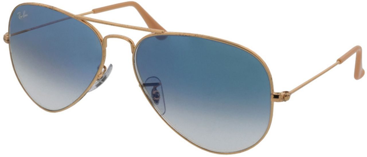 Picture of glasses model Ray-Ban Aviator RB3025 001/3F 58-14 in angle 330