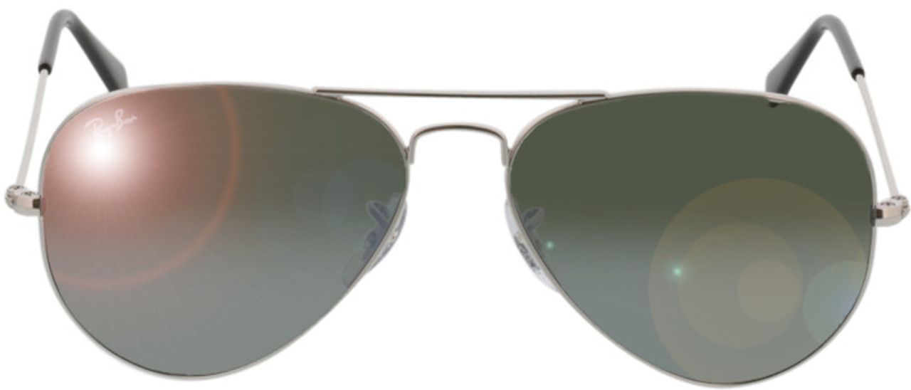 Picture of glasses model Ray-Ban Aviator Large Metal RB 3025 W3275 55-14 in angle 0