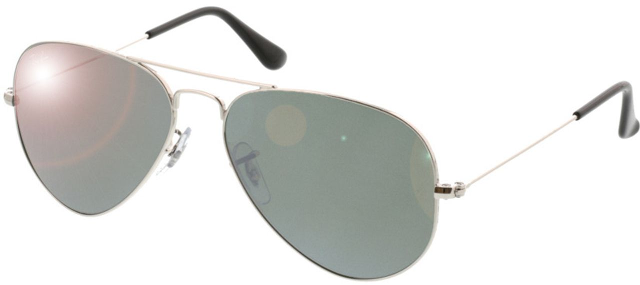 Picture of glasses model Ray-Ban Aviator RB3025 W3275 55-14 in angle 330