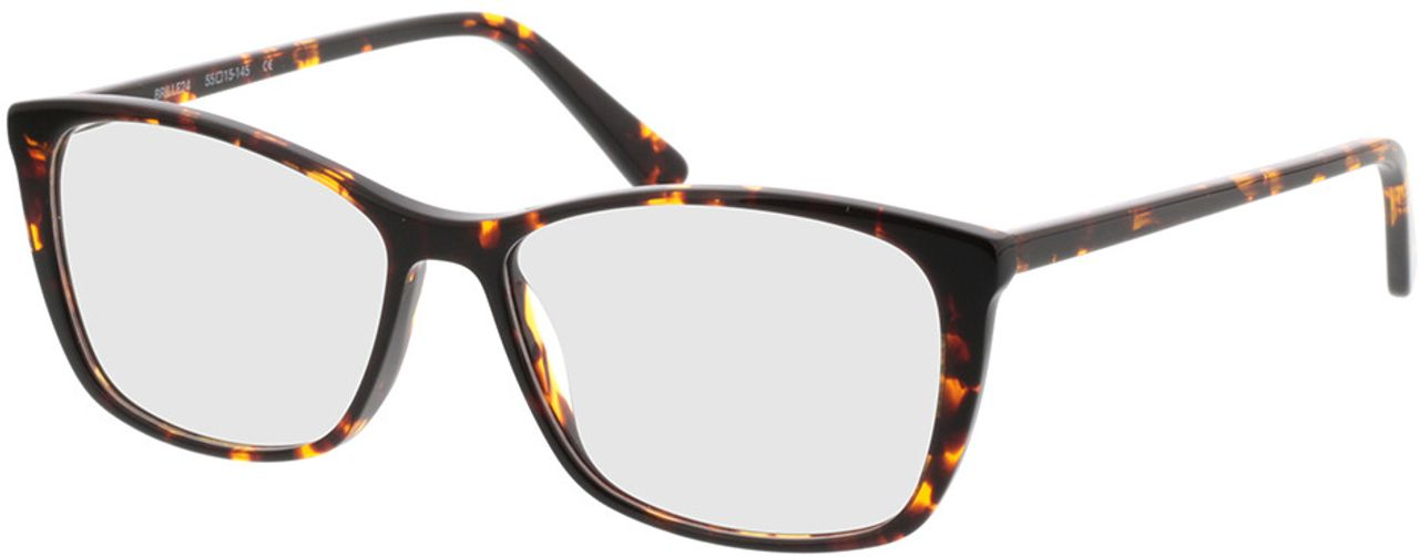Picture of glasses model Modica-braun-meliert in angle 330