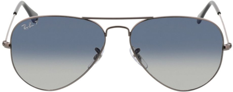 Picture of glasses model Ray-Ban Aviator RB3025 004/78 58-14 in angle 0