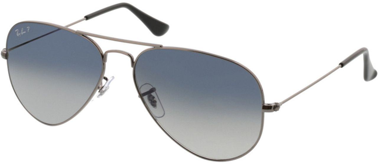 Picture of glasses model Ray-Ban Aviator RB3025 004/78 58-14 in angle 330
