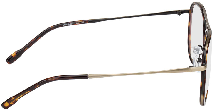 Picture of glasses model Dubai-braun-meliert/gold in angle 90