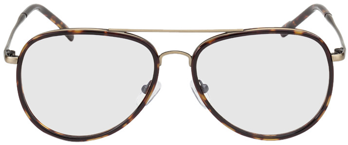 Picture of glasses model Dubai-braun-meliert/gold in angle 0