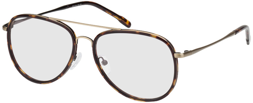 Picture of glasses model Dubai-braun-meliert/gold in angle 330