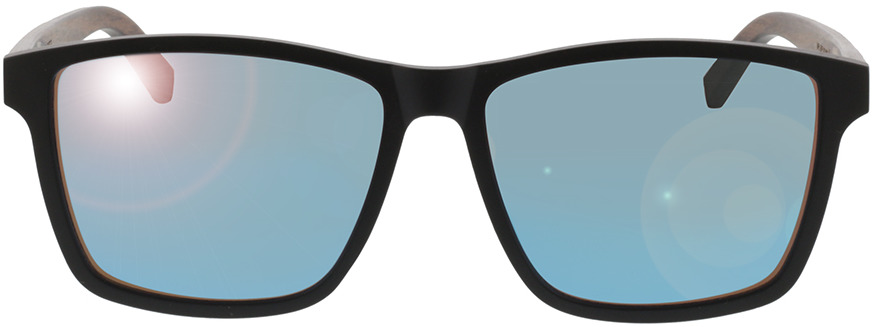 Picture of glasses model TAKE A SHOT Karlsson: Walnussholz 57-16 in angle 0