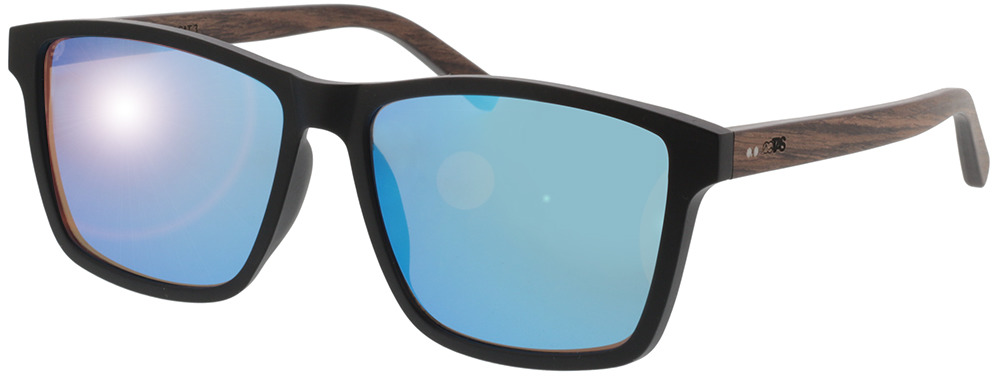 Picture of glasses model TAKE A SHOT Karlsson: Walnussholz 57-16 in angle 330