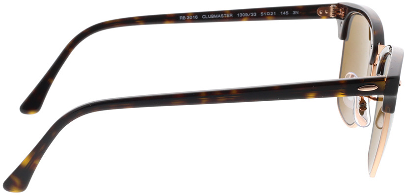 Picture of glasses model Ray-Ban Clubmaster RB3016 130933 51-21 in angle 90