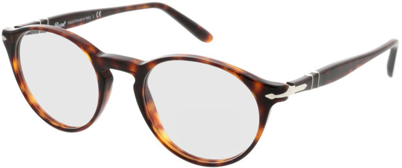 Picture of glasses model Persol PO3092V 9015 48-19 in angle 330