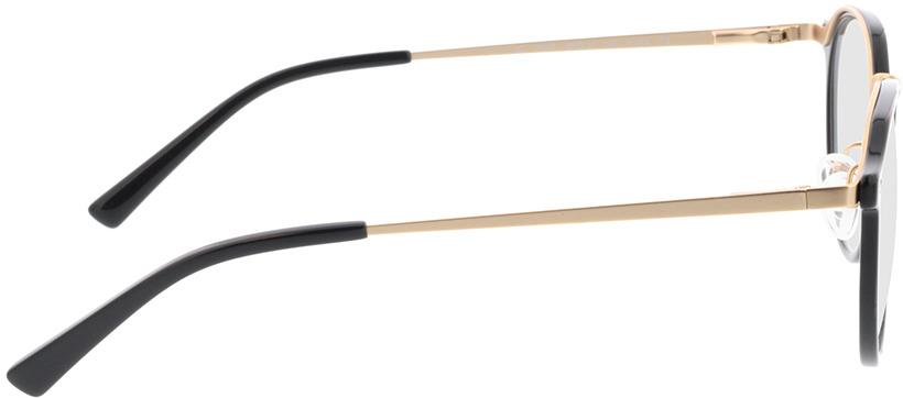 Picture of glasses model Juno-schwarz in angle 90