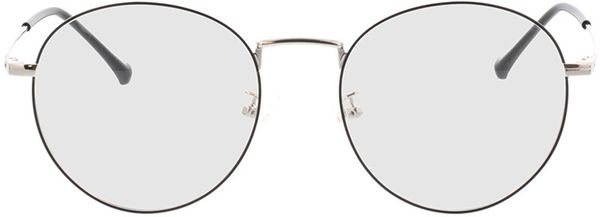 Picture of glasses model Eden-black-silver in angle 0