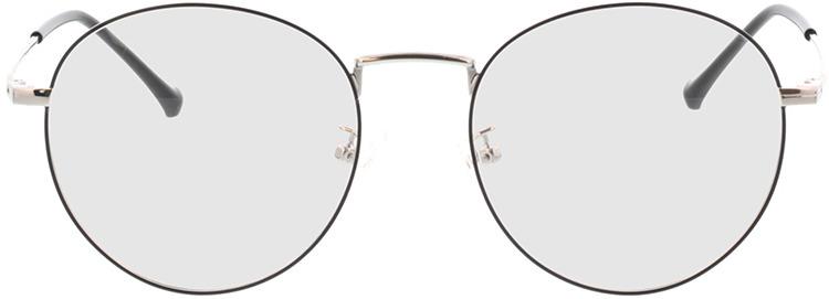Picture of glasses model Eden zwart/zilver in angle 0