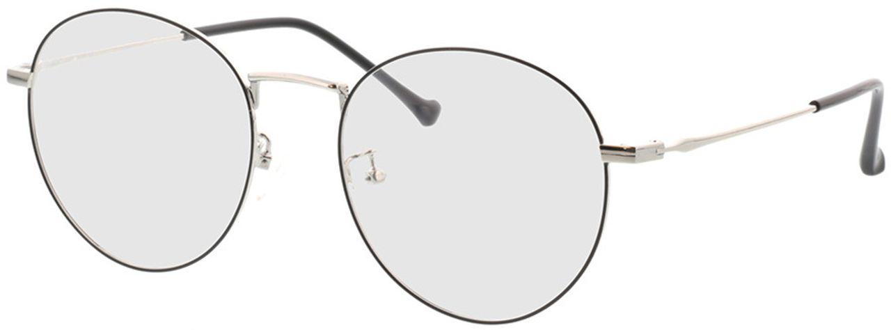 Picture of glasses model Eden-black-silver in angle 330