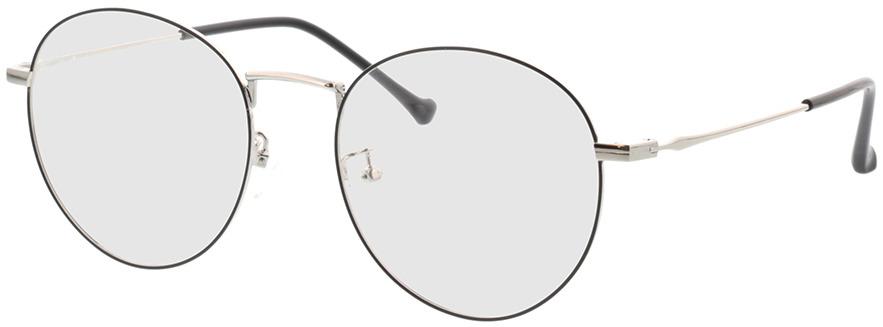 Picture of glasses model Eden zwart/zilver in angle 330