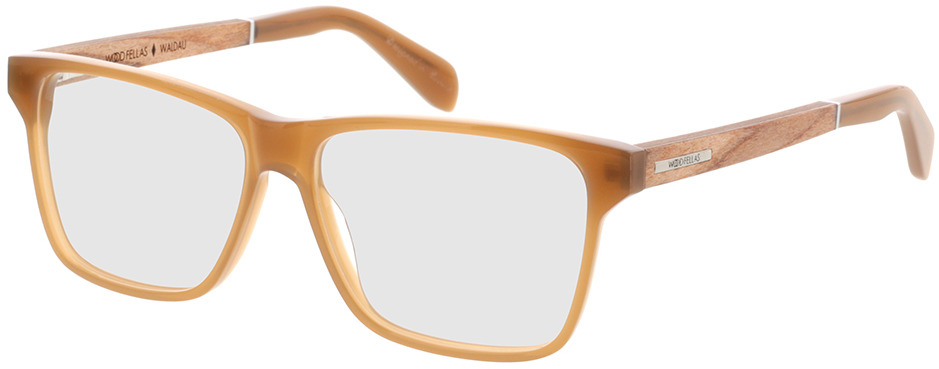 Picture of glasses model Wood Fellas Optical Waldau zebrano/light castanho 53-12 in angle 330