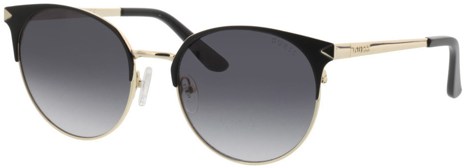 Picture of glasses model Guess GU7516 02B 53-18 in angle 330