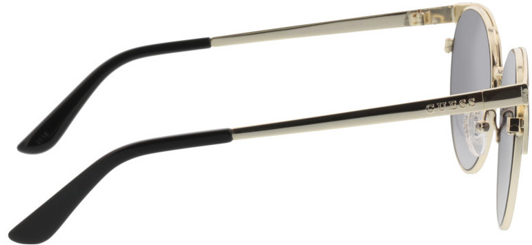 Picture of glasses model Guess GU7516 02B 53-18 in angle 90