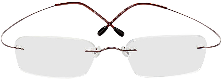 Picture of glasses model Mackay brown in angle 0