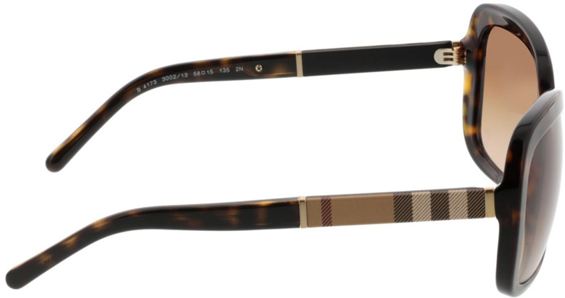 Picture of glasses model Burberry BE4173 300213 58-15 in angle 90