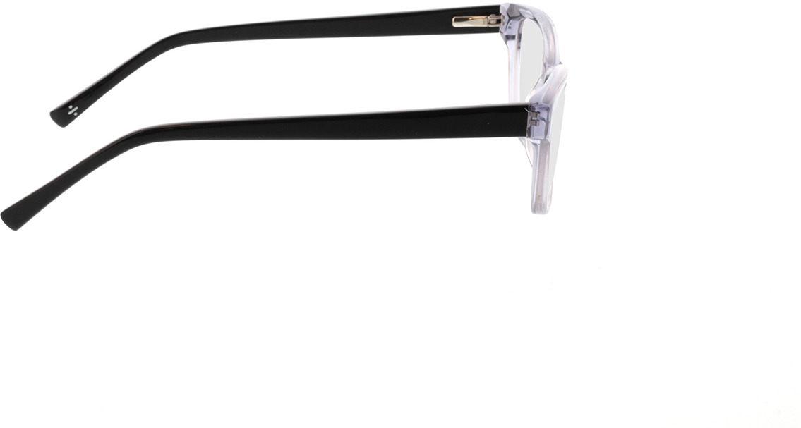Picture of glasses model Aurie-grau transparent in angle 90