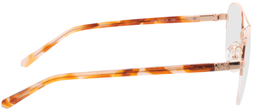 Picture of glasses model Michael Kors Key West MK3033 1108 54-18 in angle 90