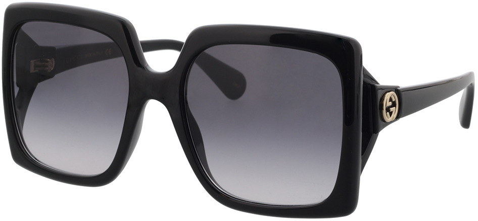 Picture of glasses model Gucci GG0876S-001 60-20 in angle 330