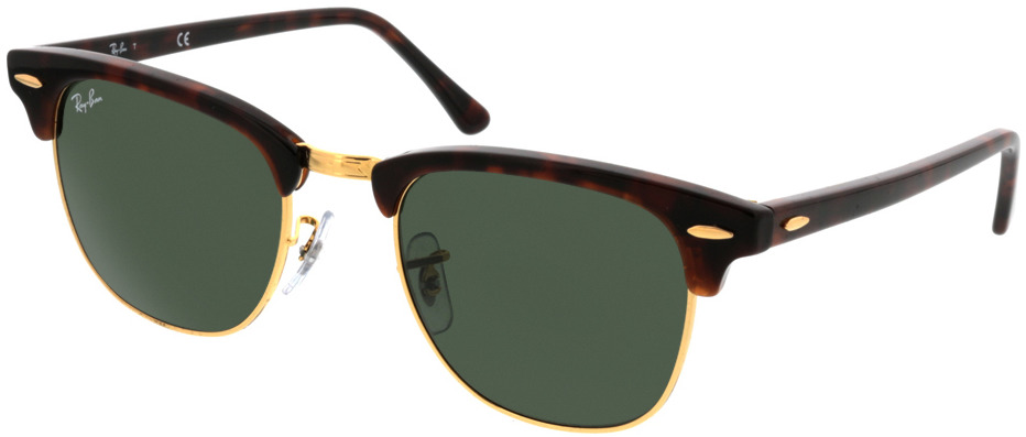 Picture of glasses model Ray-Ban Clubmaster RB3016 W0366 49-21