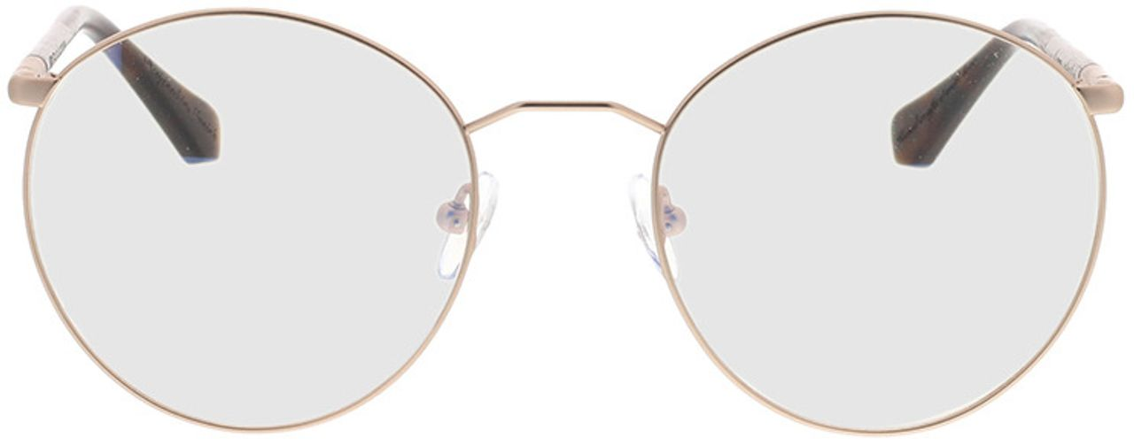 Picture of glasses model Wood Fellas Optical Cochem curled/gold matte 53-20 in angle 0