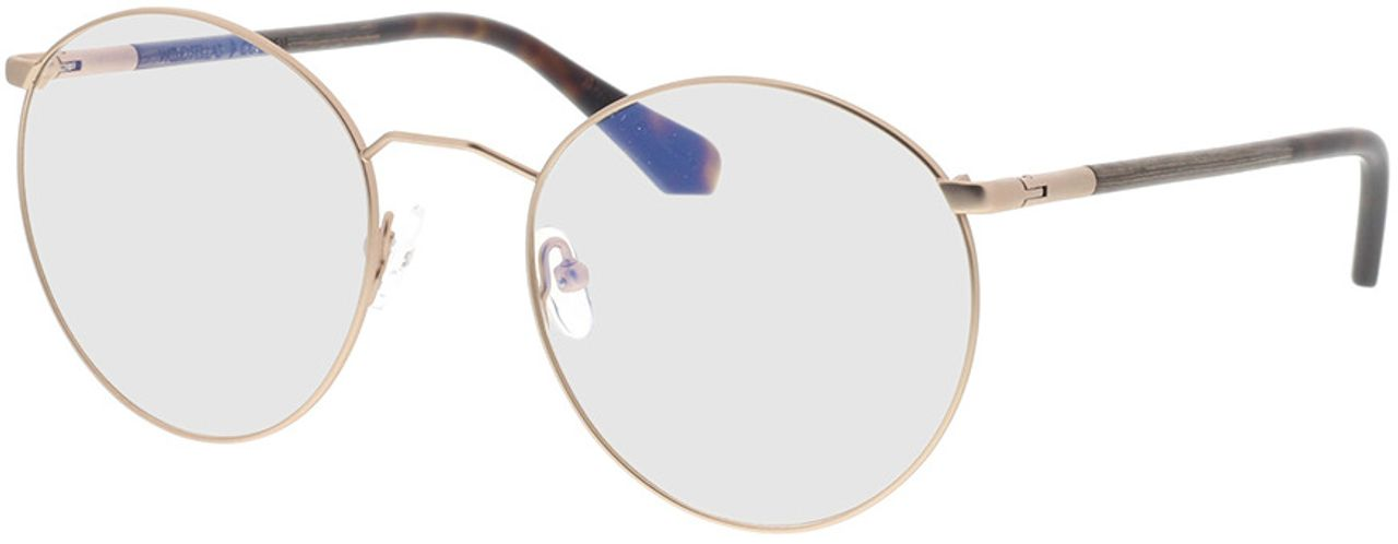 Picture of glasses model Wood Fellas Optical Cochem curled/gold matte 53-20 in angle 330