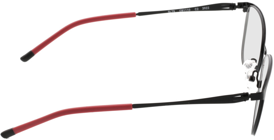 Picture of glasses model Gizeh-schwarz/rot in angle 90