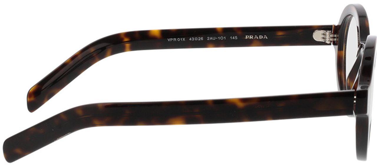 Picture of glasses model Prada PR 01XV 2AU1O1 43-26 in angle 90