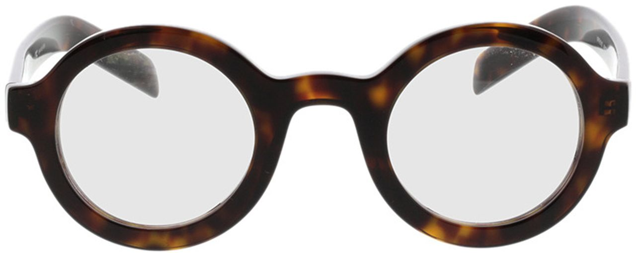 Picture of glasses model Prada PR 01XV 2AU1O1 43-26 in angle 0