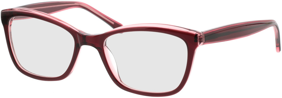 Picture of glasses model Roberta-dunkelrot pink in angle 330