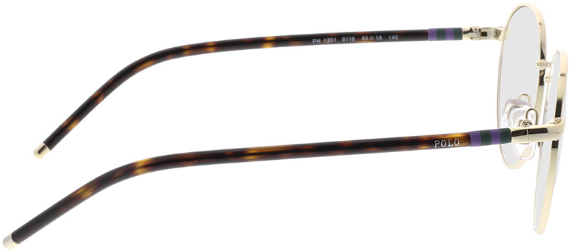 Picture of glasses model Polo Ralph Lauren PH1201 9116 50-18 in angle 90