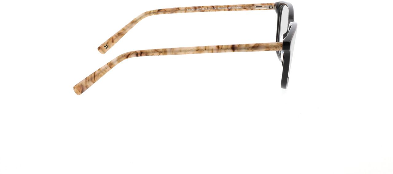 Picture of glasses model Cara-schwarz/beige in angle 90