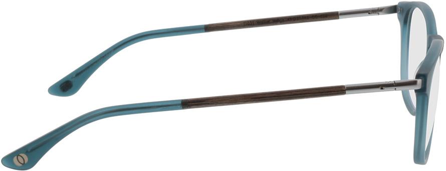 Picture of glasses model Wood Fellas Optical Irenic walnut/indigo 49-21 in angle 90