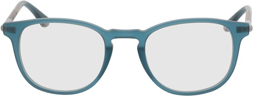 Picture of glasses model Wood Fellas Optical Irenic walnut/indigo 49-21 in angle 0