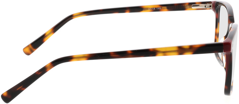 Picture of glasses model Valona-braun-meliert in angle 90