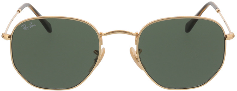 Picture of glasses model Ray-Ban Hexagonal Flat Lenses RB3548N 001 51-21 in angle 0