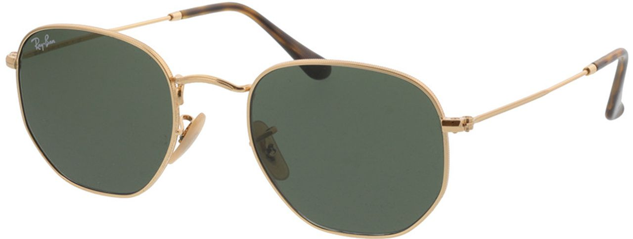 Picture of glasses model Ray-Ban Hexagonal Flat Lenses RB3548N 001 51-21 in angle 330
