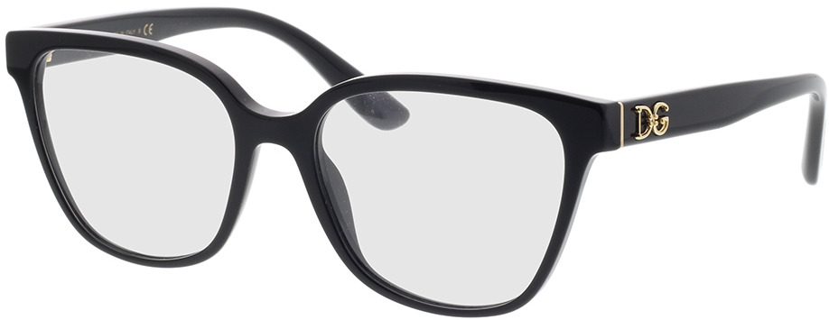 Picture of glasses model Dolce&Gabbana DG3321 501 54-17 in angle 330
