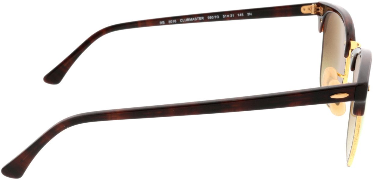 Picture of glasses model Ray-Ban RB3016 990/7O 51-21 in angle 90