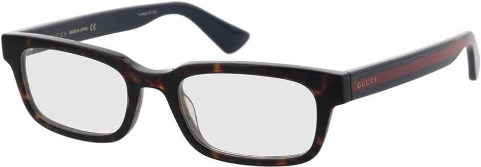 Picture of glasses model Gucci GG0928O-006 52-19 in angle 330