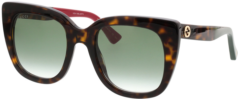 Picture of glasses model Gucci GG0163S-004 51-22 in angle 330