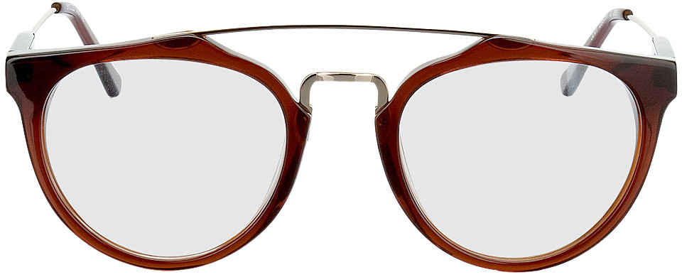 Picture of glasses model Galanta bruin/Goud in angle 0