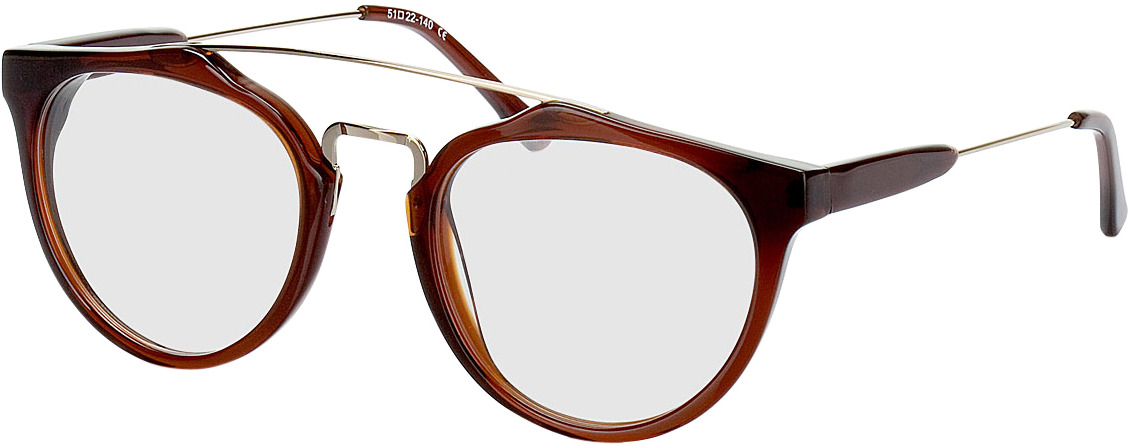 Picture of glasses model Galanta bruin/Goud in angle 330