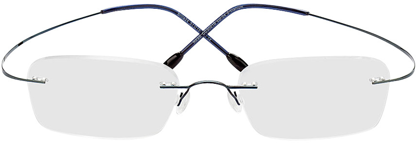 Picture of glasses model Mackay azul in angle 0
