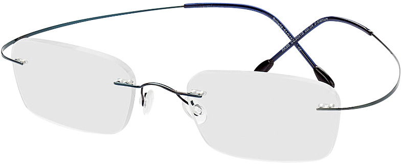 Picture of glasses model Mackay azul in angle 330