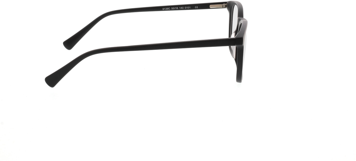 Picture of glasses model Mateo mat zwart in angle 90