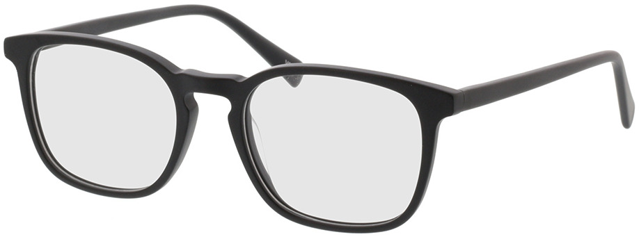 Picture of glasses model Mateo mat zwart in angle 330